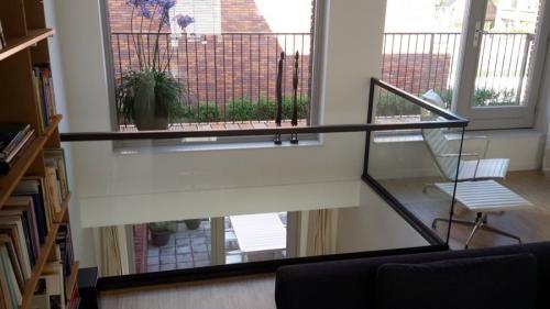 balkon balustrade in glas