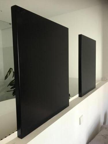 achterzijde van vrijstaande spiegel met ingebouwde verlichting